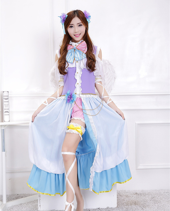 Anime Lovelive! Sonoda Umi White Valentine's Day Angels Awakening Uniform Cosplay Costume Love Live Full Set Halloween Dress