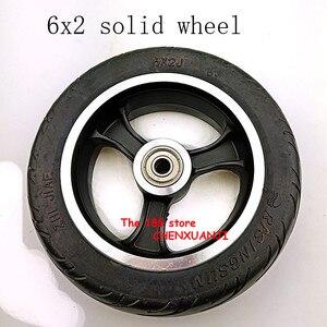 Image 5 - Freies verschiffen 6x2 solide reifen rad hub Schnelle rad F0 verbreitert hinten rad 6 zoll elektrische roller solide reifen rad
