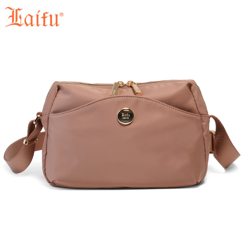 Laifu Fashion Women Messenger Bag Shoulder Bag Female Crossbody Bag Nylon Waterproof Lightweight Shopping Travel