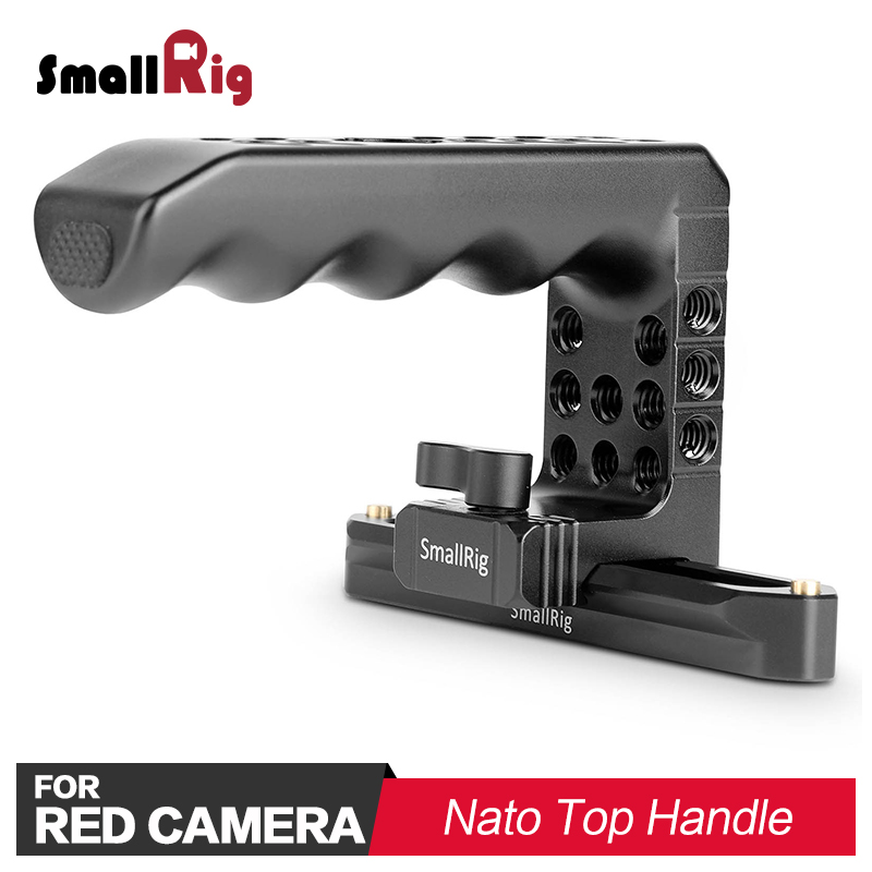 SmallRig QR Quick Release NATO Top Handle for RED Cameras With Arri Locating Holes 1/4 Thread Holes 1961-in Tripod Monopods from Consumer Electronics    1