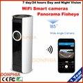 Freeshipping Mini Câmera IP HD fisheye Panorâmica de 180 graus ONVIF Network Security CCTV Bala 720 P Android IOS Remoto sem fio
