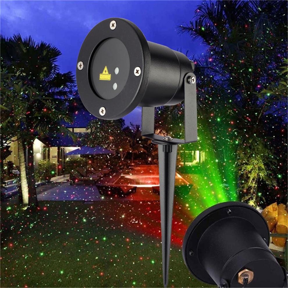 Bliss laser lights static christmas light show waterproof - Large bulb exterior christmas lights ...