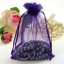 7x9cm High quality 200pcs/lot Jewelry packaging bags Drawable Organza Bags New fashion Gift Bags & Pouches free shipping недорого