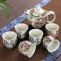 christmas Blue white double layer heat insulation scalding teacup classic twelve dozen hairpin Qingming River pattern ceramic