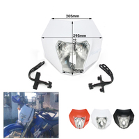 Universal Headlight Headlamp Lights Fairing For KTM Dirt Pit Bike Motorcross Supermoto SX F EXC SMR MX XC Motorcycle 2016
