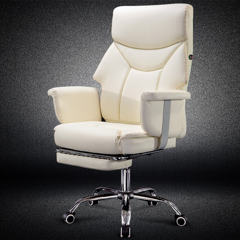 Reclining Office Chair Comfortable Massage Lifted Computer Chair Creativity Design with Footrest Household PU Soft Swivel Chair