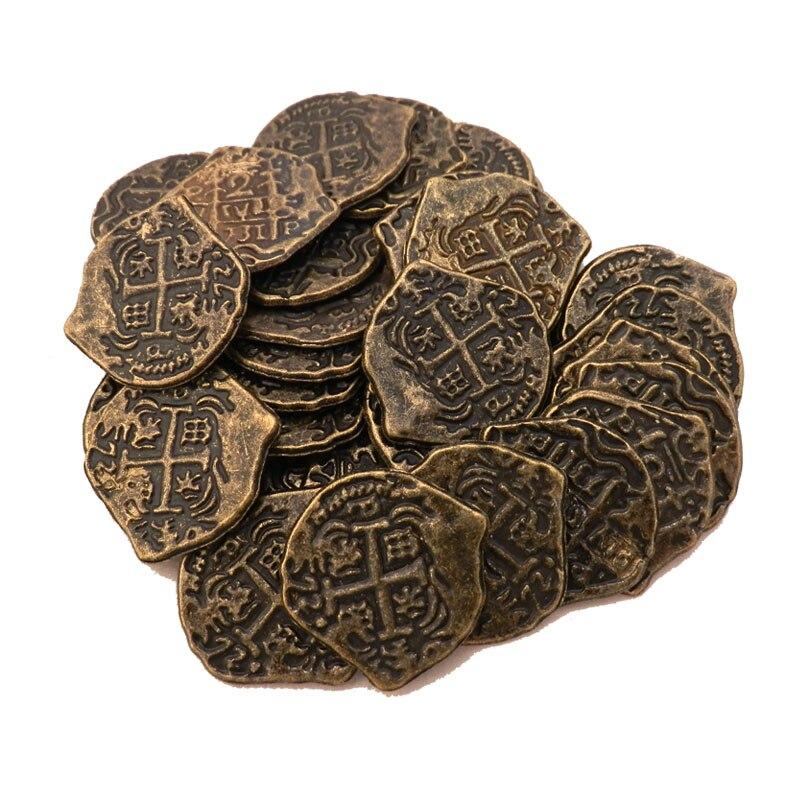 Европейские сокровища, испанская двухблочная Золотая монета, монеты разных цветов на выбор, 50 шт./лот