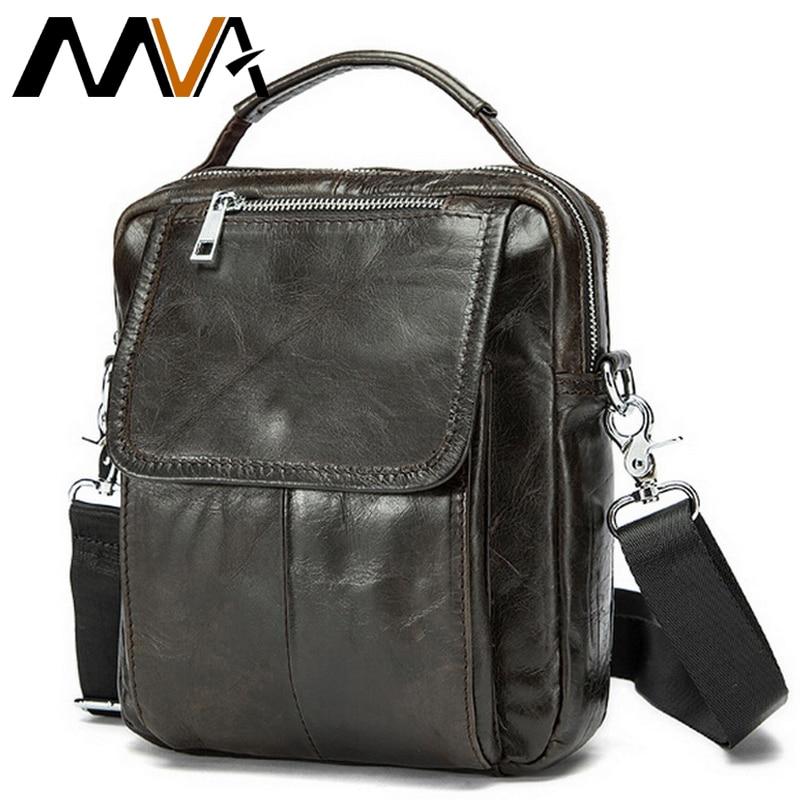 MVA τσάντες για άνδρες γνήσιο δερμάτινο Messenger τσάντα ανδρών τσάντες ώμου αρσενικό τσάντες Crossbody τσάντες μικρών ώμων 9024