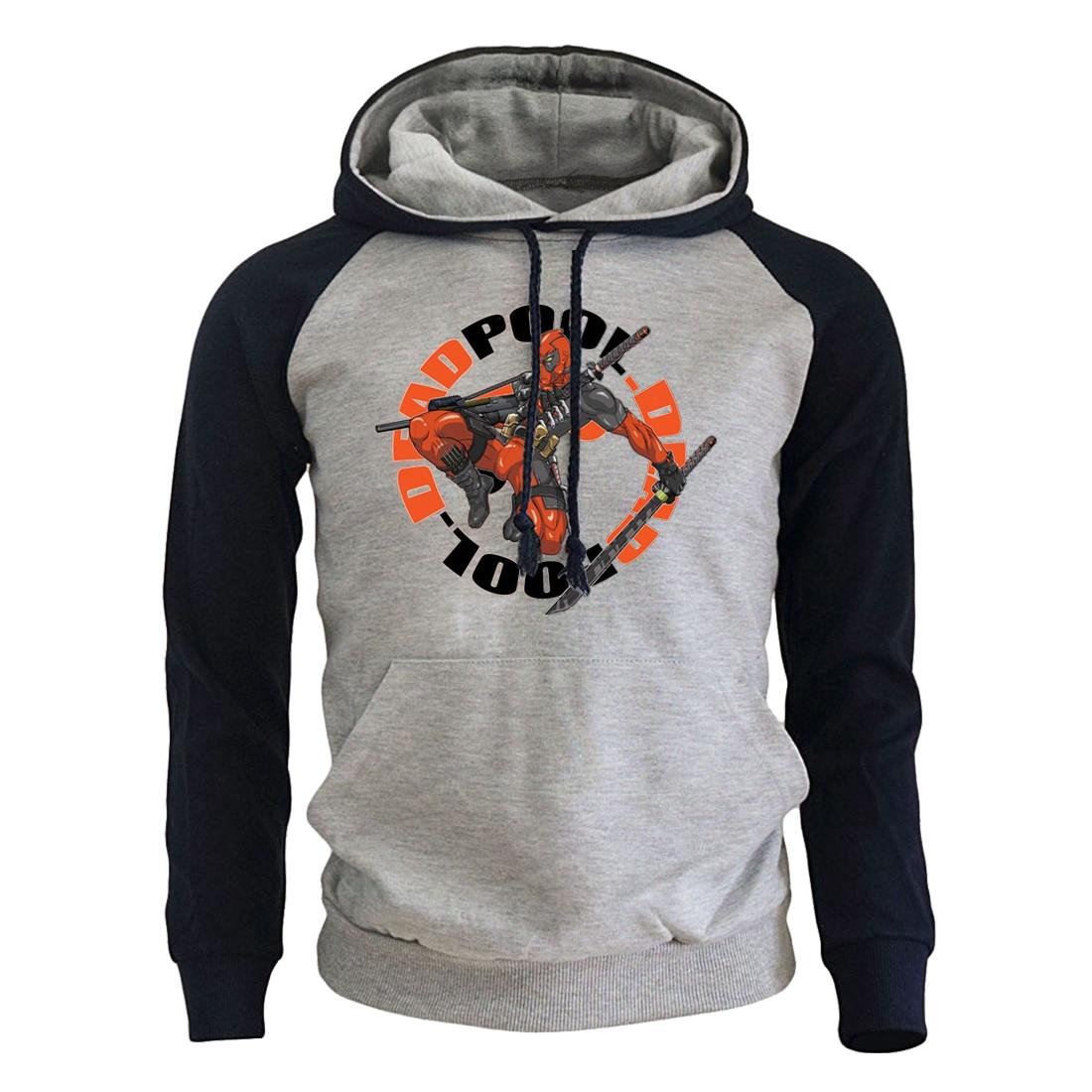 Deadpool Sweatshirts For Men Spring Coats 2019 New Brand Clothing Hoody Streetwear Men's Sweatshirt Movie Harajuku Hoodies Male