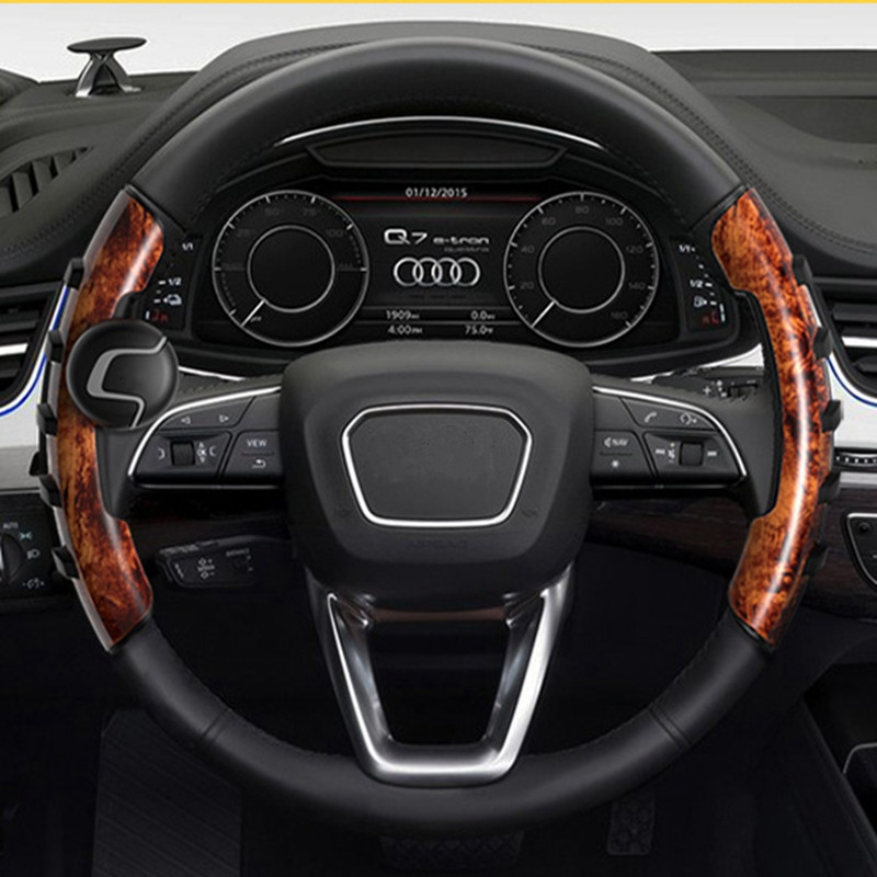 Car steering wheel cover steering tecnologia gear for volkswagen polo passat b7 suzuki wagon r nissan nv200 renault scenic 2 купити накладки спиннер на руль