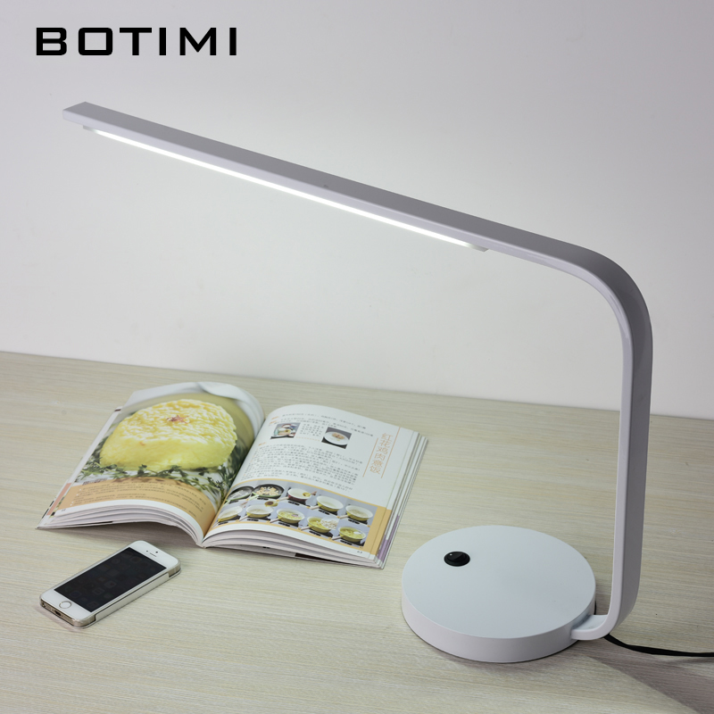 BOTIMI LED Reading Desk Lights Luminaria de mesa Designer Simple White Table Lamp For Office Bedroom Book Lighting Fixtures 180 head rotate rechargesble dimmable touch switch folding led desk lamp 4 watt 50 leds luminaria de mesa