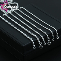 COREOPSIS S925 Sterling Silver Necklace Chain Jewelry Silver Color 2 To 3m Extended Version Of Popular