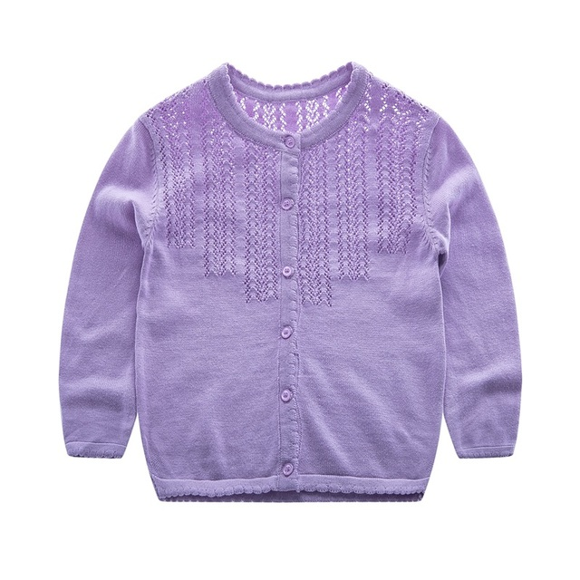 7c7c15dd8 Candy Color Girls Sweater Cotton Thin Cardigan For Baby Girl Long ...