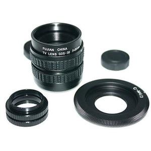 Image 2 - Fujian 35mm f/1.7 CCTV cine obiektyw do kamery M4/3/MFT Mount + pierścień pośredniczący c m4/3 kaptur do aparatów Olympus Panasonic Micro 4/3