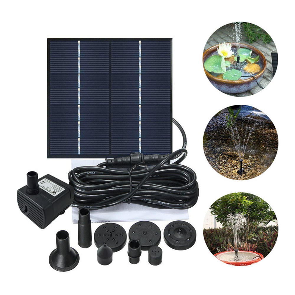 Solar-Powered Water Pump Kit 7V 1.2W Solar Panel Water Floating Solar Powered Fountain for Bird Bath Pond Garden Water PumpSolar-Powered Water Pump Kit 7V 1.2W Solar Panel Water Floating Solar Powered Fountain for Bird Bath Pond Garden Water Pump