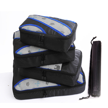 QIUYIN Portable Clothing Sorting Luggage  Travel Bags 4 Pieces/Sets Waterproof Packing Cube Tote System Durable Tidy Pouch Stuff