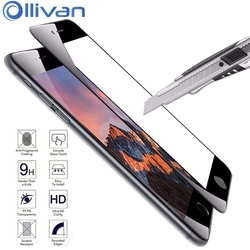 OLLIVAN Cobertura Completa Para o iphone X Xs Max Xr Temperado Film Vidro Para iPhone Protetor de Tela 7 8 6 s 6 s 5 SE 5S pelicula de vidro