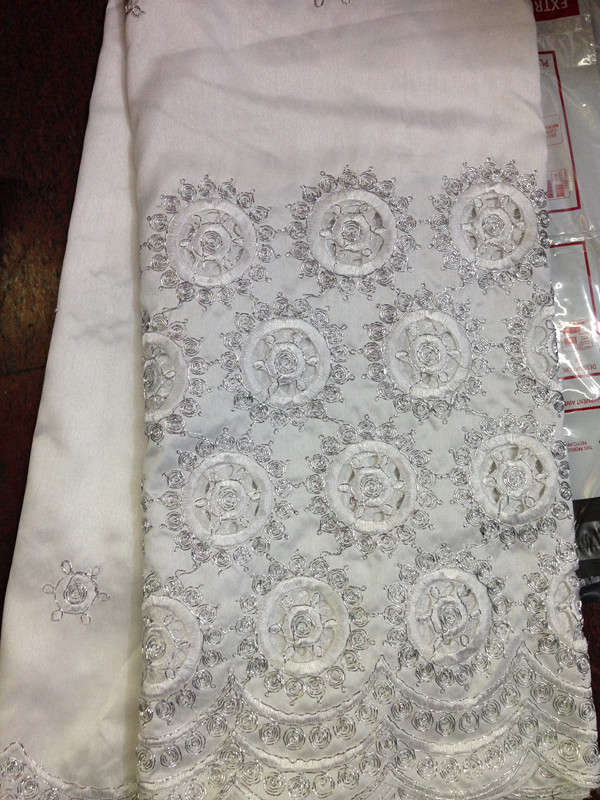 Excellent party raw silk material with holes African cotton embroidery  george lace fabric with sequins for dress AG3 4-in Fabric from Home &  Garden on ...