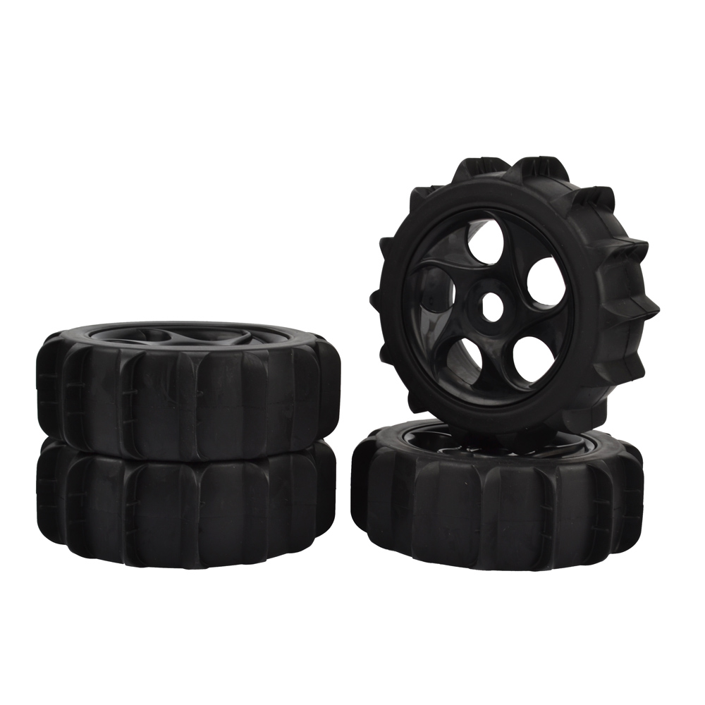 RC 1/8 Scale RC Off Road Buggy Snow Sand Paddle Tires Tyre and Wheels 4pcs 4pcs 3 2 rubber rc 1 8 wheels