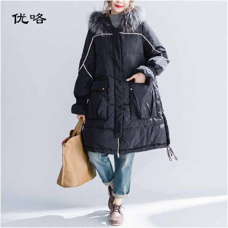 Women Winter Coat Thickened Parka Plus Size Long Cotton Casual Fur Hooded Jackets Female Quilted Coats Loose Overcoat 5XL 2018