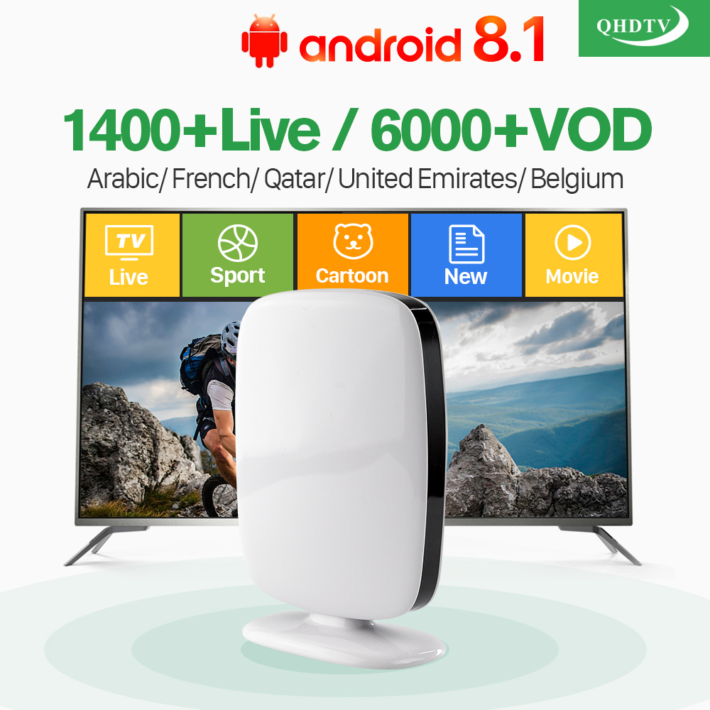 IPTV France Subscription 1 Year QHDTV Code Smart R9 Android 8.1 TV Box 1GB 8GB IPTV Europe Arabic French Belgium IPTV Top Box iptv french arabic subscription box android 7 1 t95z plus set top box with qhdtv code 1 year iptv france arabic belgium ip tv