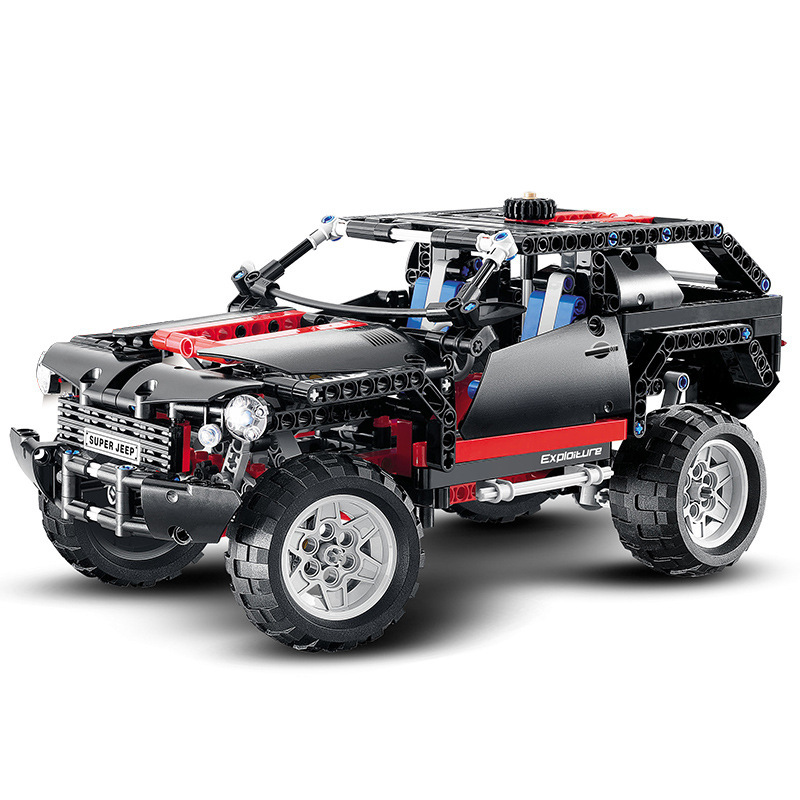 2019 MOC Compatible With Legoinglys 8081 Technic Motor Extreme Cruiser SUV 589pcs Racing Car Model Building Block Christmas Toys