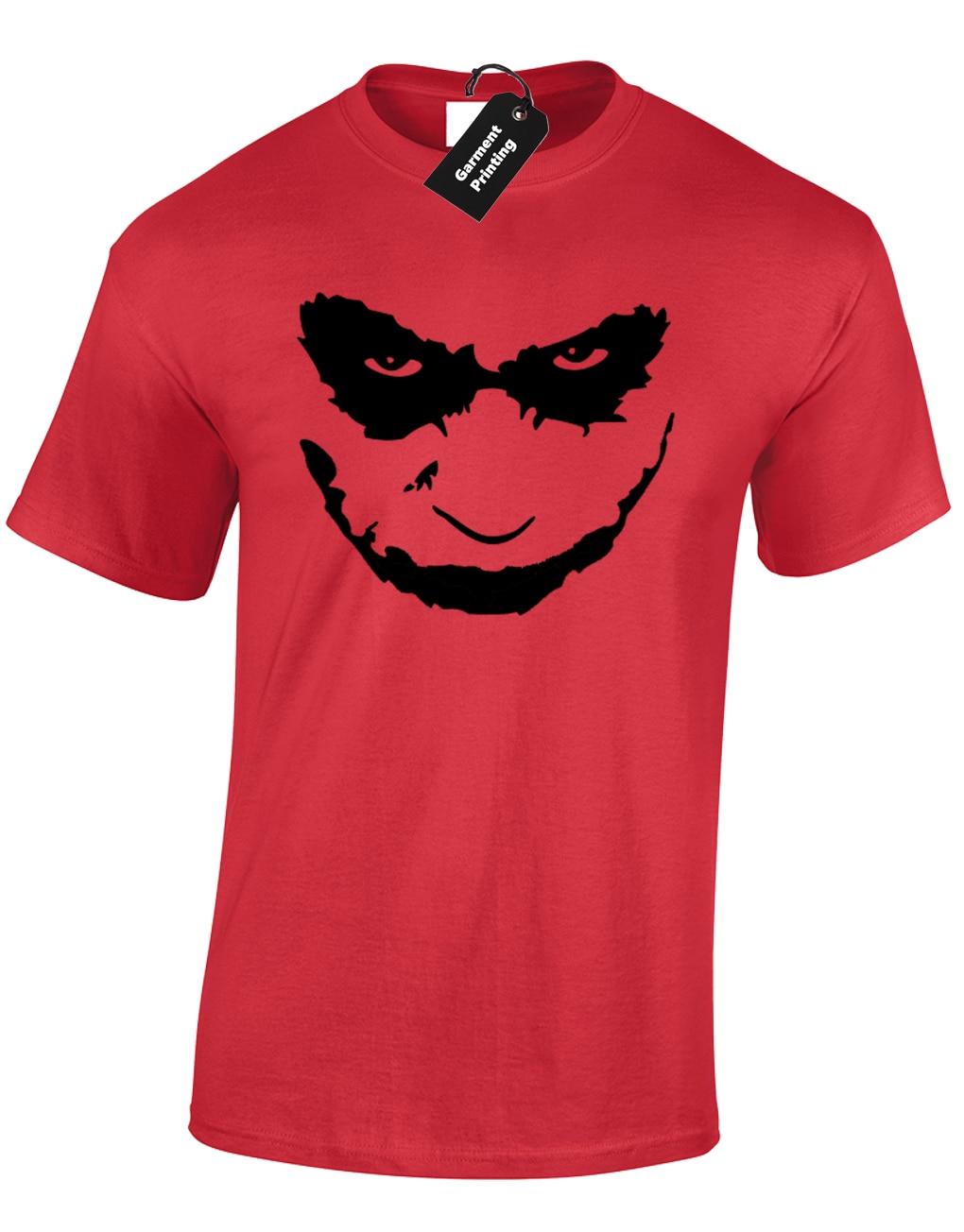 Джокер лицо Мужская футболка забавная летучая мышь Темный рыцарь дизайн человек классический фильм S-5XL Удобная футболка, Бесплатная доставка дешевая футболка