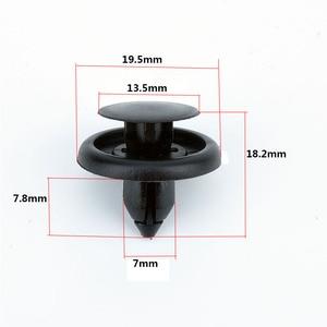 Image 3 - 50 Pcs 자동차 패스너 맞는 7mm 직경 구멍 블랙 푸시 리테이너 리벳 클립 도요타 자동차 도어 범퍼 펜더 커버 트림 클립