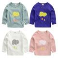 Male child cartoon long-sleeve T-shirt spring 2017 children's clothing child basic shirt baby top u1762