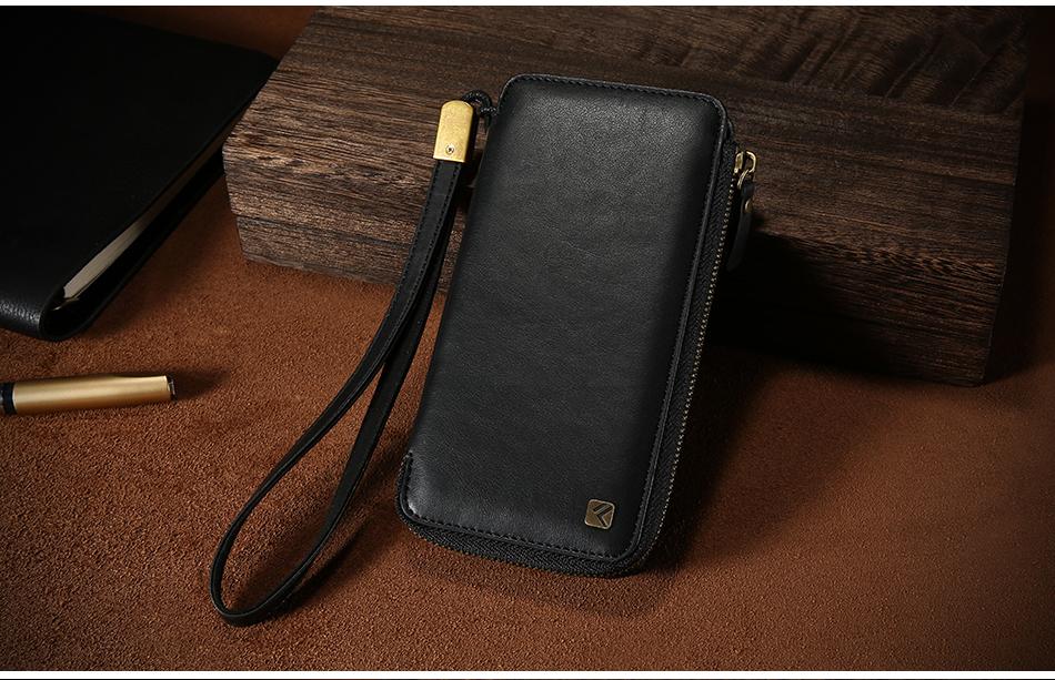 Floveme vintage wallet case dla iphone 6 6 s 7 plus skórzanej oprawie zipper torebka posiadacza karty retro przypadki telefonów dla iphone 6 6 s 7 16