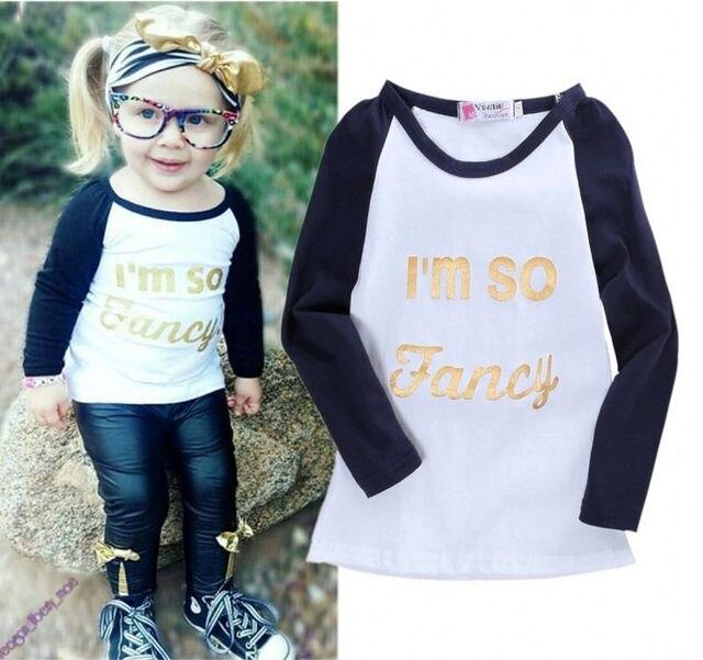 c16b55f59 New Girls Kids Boys Baby Clothing So Fancy Casual Letter Fashion ...