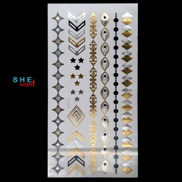 2017 New Top Fashion High Quality Temporary Metallic Tattoo Jewelry ...