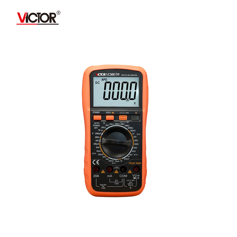 VICTOR VC9807A+ Digital Multimeter AC DC Ammeter Voltmeter Ohmmeter conductivity Capacitance Frequency tester  цены
