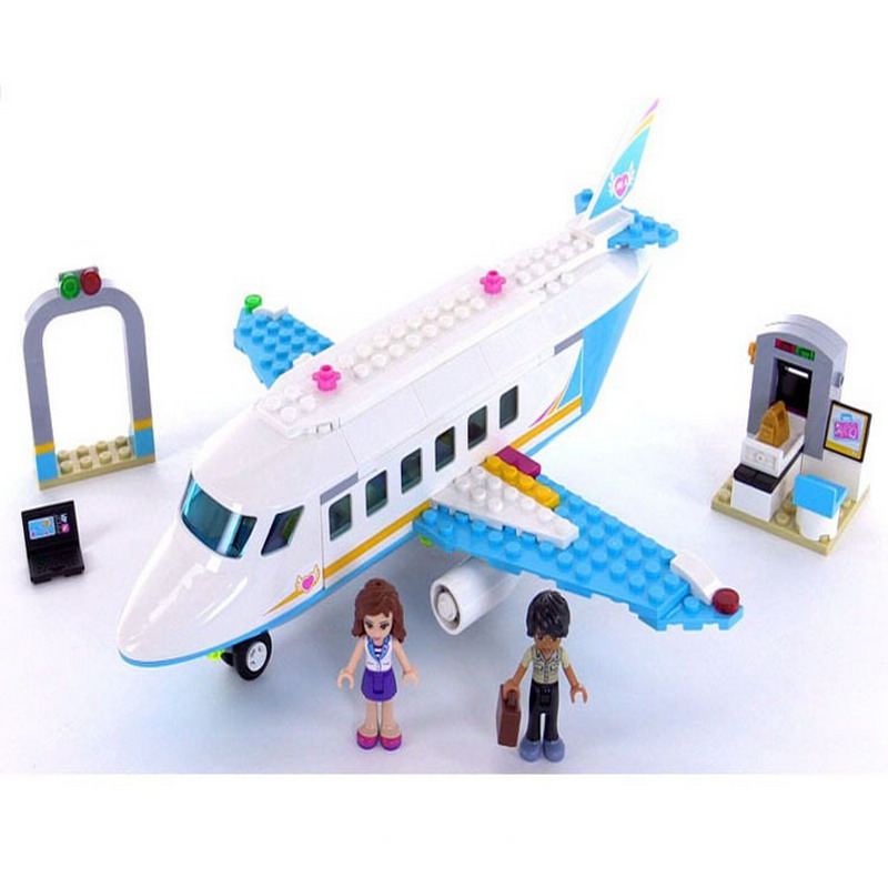 10545 BELA Friends Series Heartlake Private Jet Model Building Blocks Enlighten DIY Figure Toys For Children Compatible Legoe decool 3117 city creator 3 in 1 vacation getaways model building blocks enlighten diy figure toys for children compatible legoe