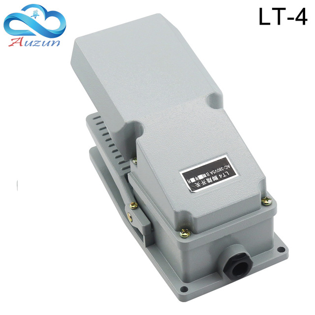 Interruptor de pé lt 4, acessórios de máquina de interruptor de pedal ac 380 v 10a
