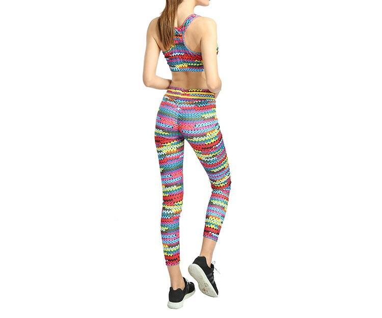 New Printed Yoga Sports Leggings Hip High Waist Women Slim High Waist Sports Leggings Yoga Pants Gym Fitness Elastic Trousers 9