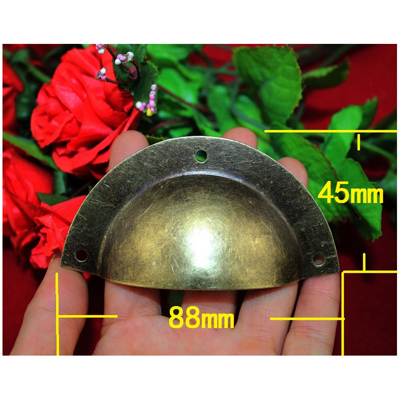 Retro Vintage Kitchen Drawer Cabinet Door Flower Handle Furniture Knobs Hardware Cupboard Antique Metal Shell Pull Handles,1PC hot brown handle single hole leather door handles cabinet cupboard drawer pull knobs furniture kitchen accessories 96 160 192mm