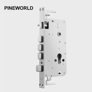 Image 2 - PINE WORLD 5052 6052 Stainless Steel lock body smart fingerprint door lock accessories fit for Q202