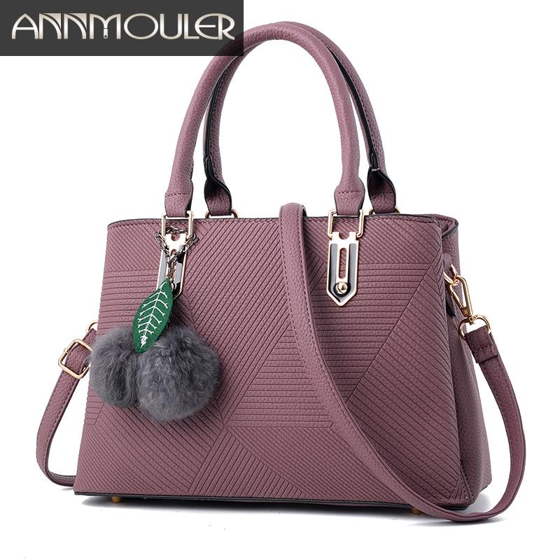 цены на Annmouler Luxurious Brand Bags Pu Leather Women Handbags High Quality Tote Bag Fashion Office Lady Shoulder Crossbody Bags в интернет-магазинах