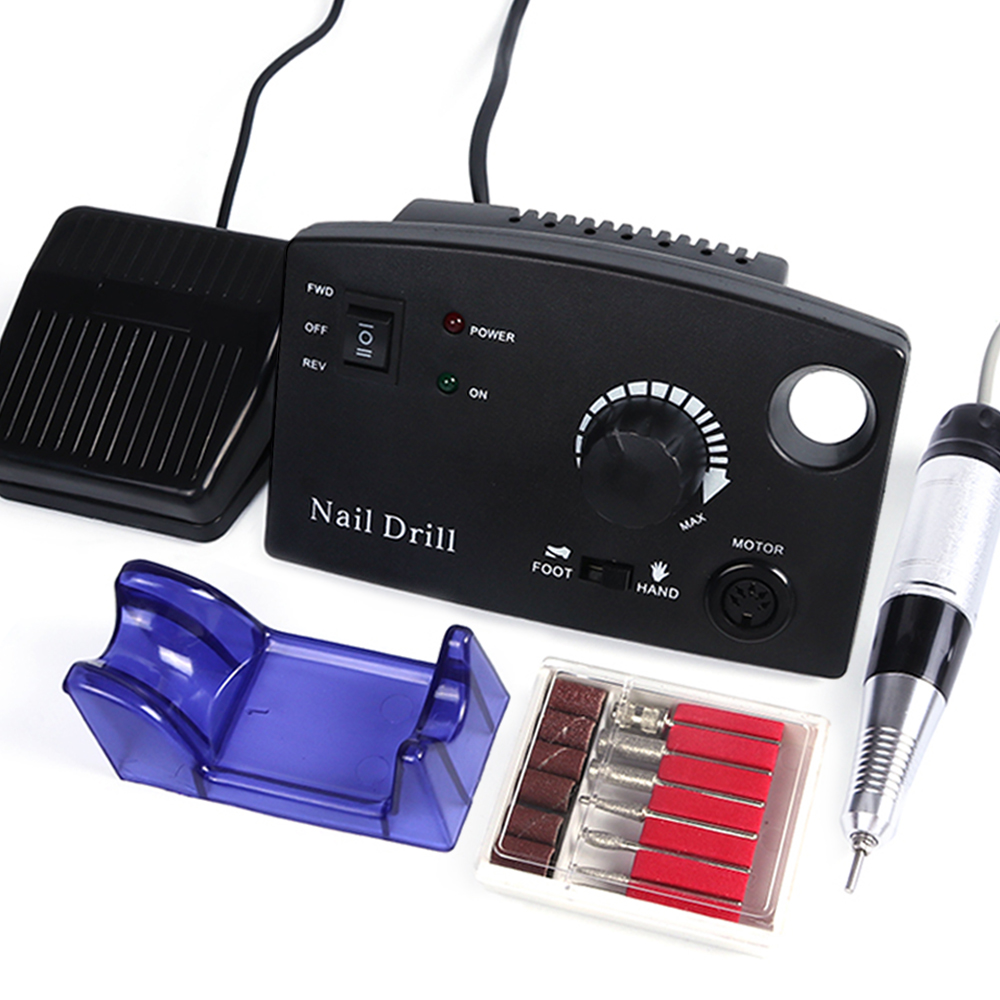 Electric Nail Drill Manicure For Machine Pedicure 30000 RPM 220V Pink White Black Milling Cutter Polisher Tool Accessory SAdr402