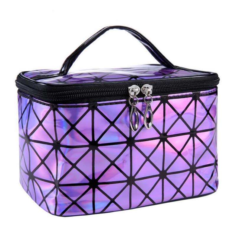 Cosmetic Bag PU Leather Waterproof Wash Bags Women Make Up Box Functional Packing Cubes Hand Bags Travel Bags Fashion Girls Bags