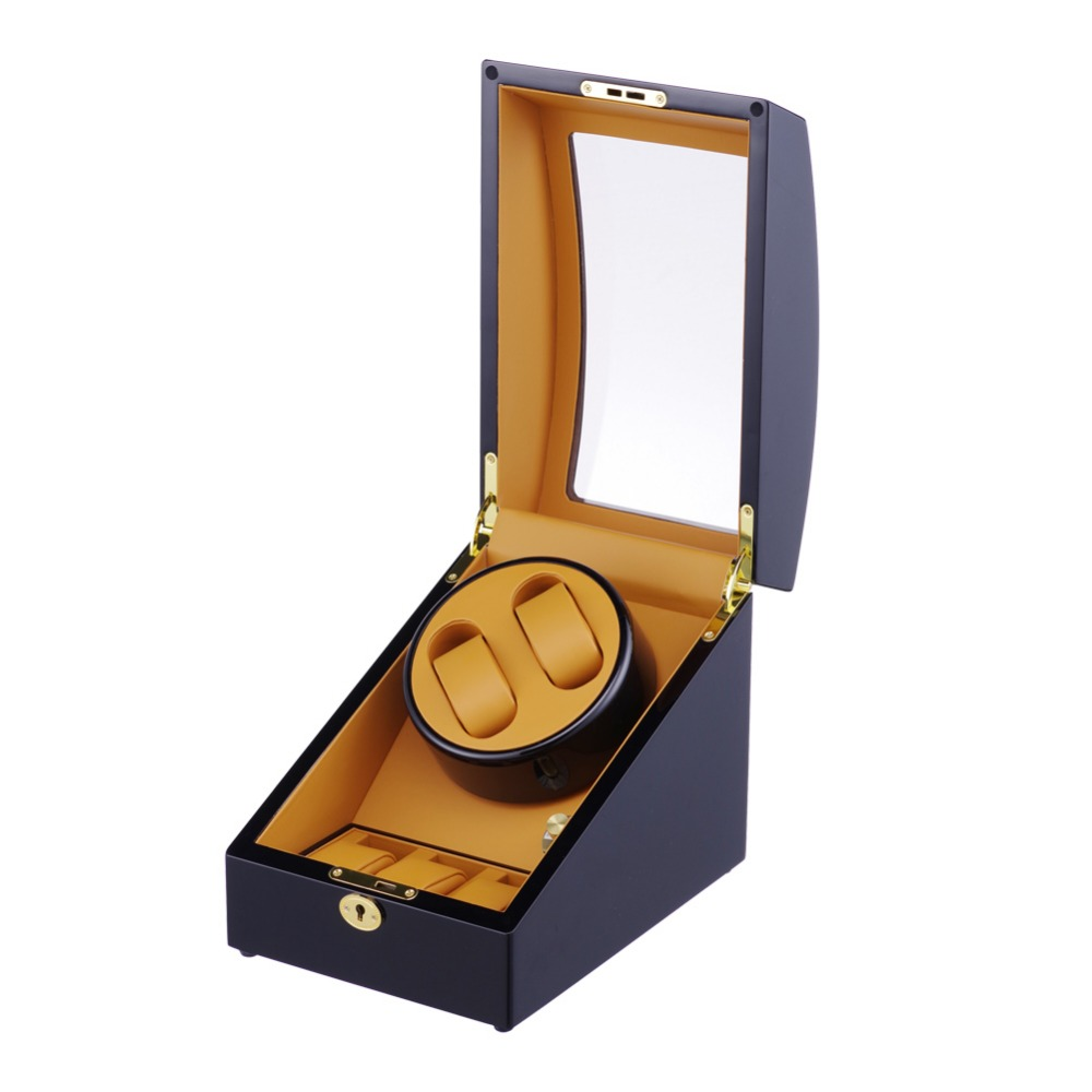 High Quality 2 3 Automatic Watch Winder Mabuchi Slient Motor Box Watches Mechanism Cases Storage Display