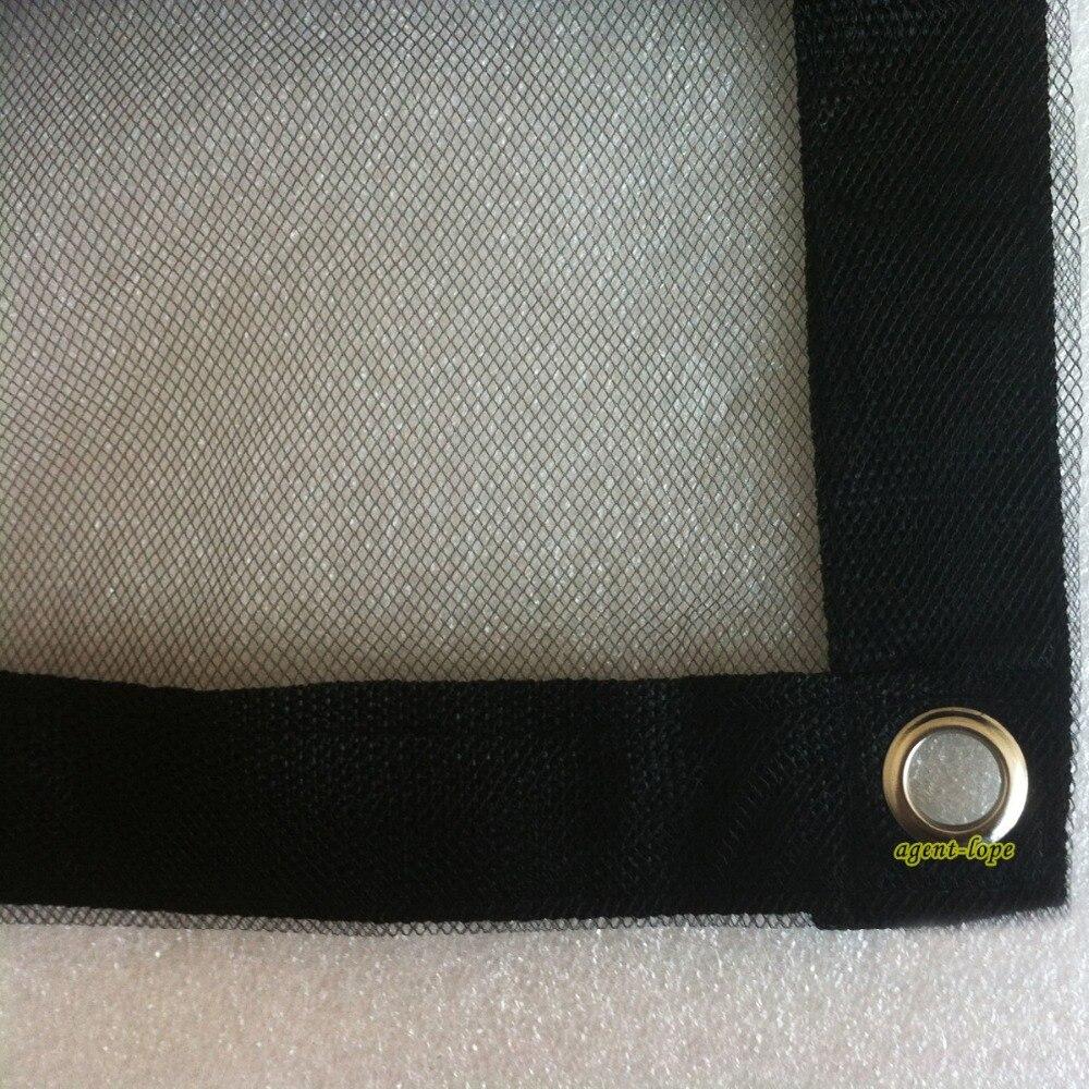 1 8x1 8m 6 x6 6x6 Single layer Black Gauze Net Cloth for light weakening NoSeam