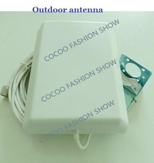 800-2500 мГц Широкий Частоты GSM 3 Г Направленная Внешняя Антенна Панель + 10 м Кабель N Мужской Разъем для Сотового Телефона Усилитель Сигнала