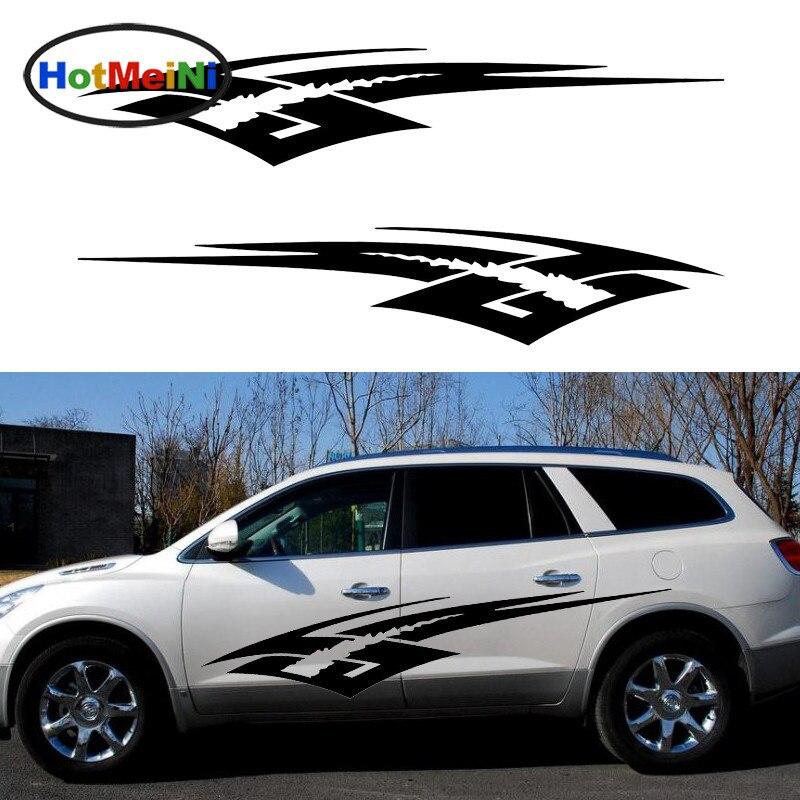 HotMeiNi 2 X dynamique choc abstrait Art ciel Superman style voiture autocollants pour Van RV camion remorque Kayak vinyle décalque 9 couleurs