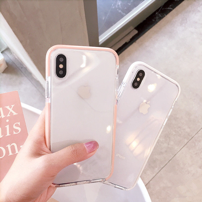Luxury Fashion Clear Back Case For iPhone XS Max XR XS Shockproof TPU Silicone Bumper Cover