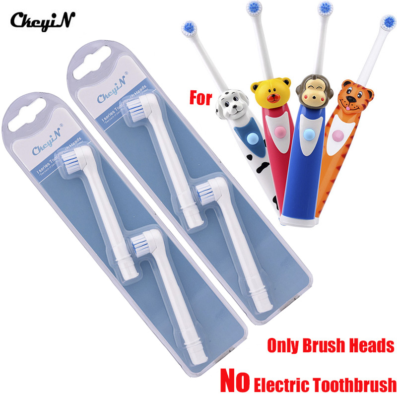 Ckeyin 4 pcs Replaceable Toothbrush Heads Suit For Cartoon Children Kids Electric Toothbrush Oral Hygiene Massage Teeth EM022Ckeyin 4 pcs Replaceable Toothbrush Heads Suit For Cartoon Children Kids Electric Toothbrush Oral Hygiene Massage Teeth EM022