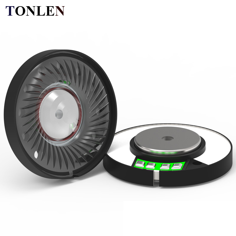 TONLEN 2 PCS 40mm headphone unit speaker bagian 32ohm 0.5 W DIY HIFI bluetooth Headset Bergerak headphone tanduk titanium ...