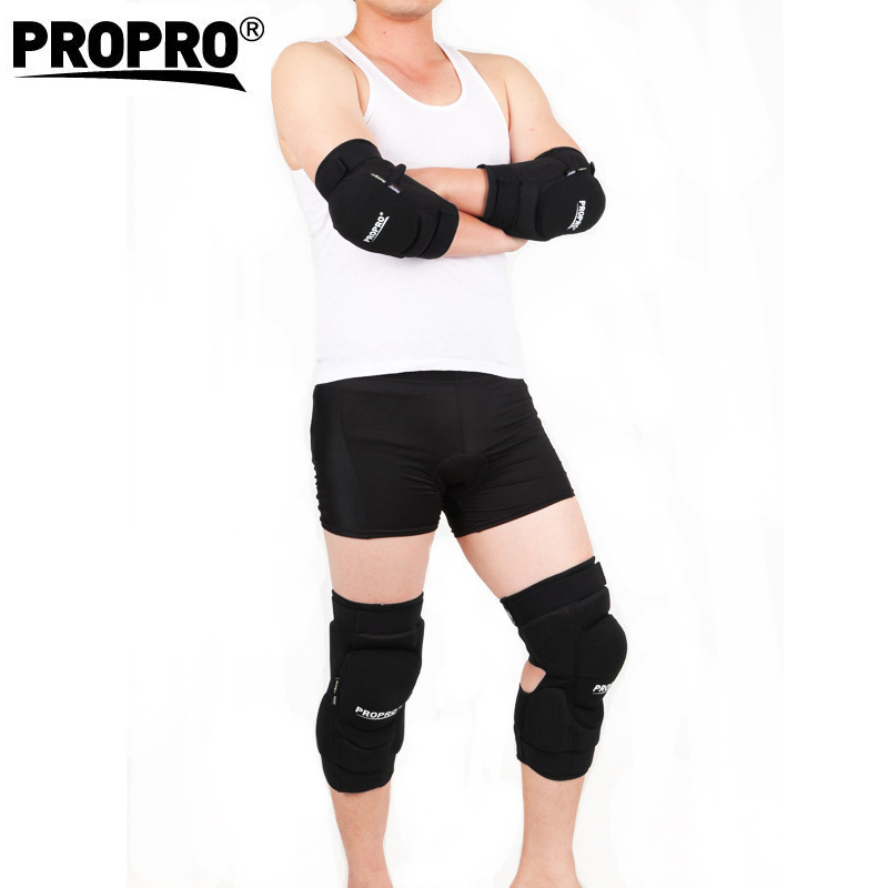 PROPRO Thickening font b Football b font Volleyball Extreme Sports knee pads brace support Protect Cycling