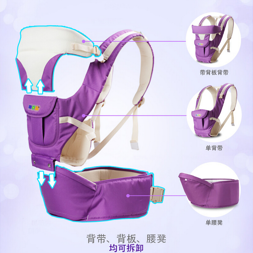 0-3 Years old Breathable Multifunction Front Facing Baby Carriers,Infant Baby Comfortable Sling Backpack,Toddler Sling Portador